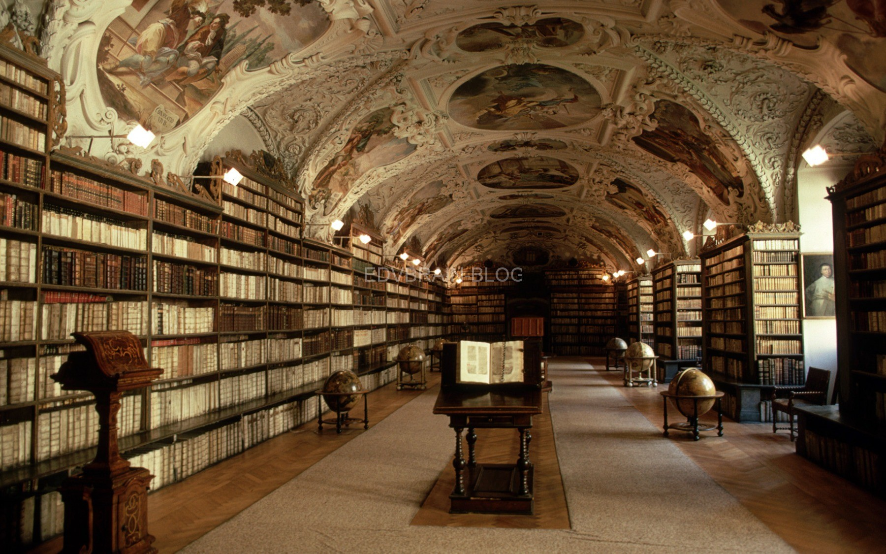 Interior of the Strahov Library, Prague, Czech Republic